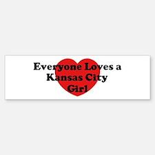 Kansas City girl Bumper Bumper Bumper Sticker