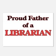 Proud Father of a Librari Postcards (Package of 8)