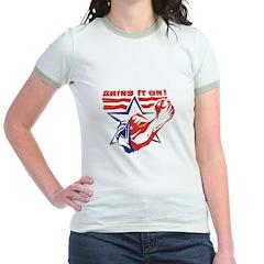 BRING IT ON (USA THEME) Jr. Ringer T-shirt