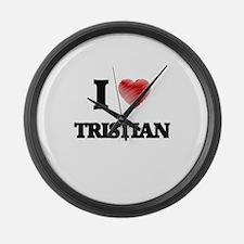 I love Tristian Large Wall Clock