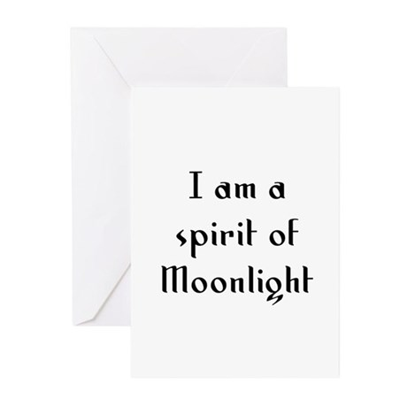 I am a spirit of Moonlight Greeting Cards (Pk of 1