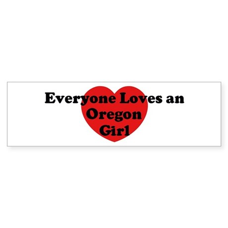 Oregon girl Bumper Sticker