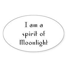 I am a spirit of Moonlight Oval Decal