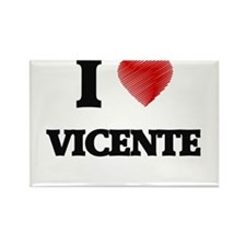 I love Vicente Magnets
