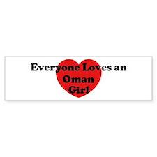 Oman girl Bumper Bumper Sticker
