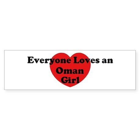 Oman girl Bumper Sticker