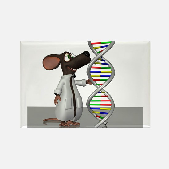 Transgenic mouse, conceptual artwork Magnets