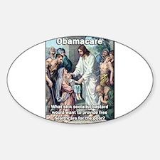 Obamacare: Sick Socialist Jesus Decal