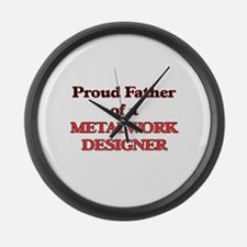 Proud Father of a Metalwork Desig Large Wall Clock