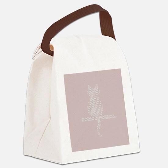 Pastel Pink Cat Stitch Fix Canvas Lunch Bag