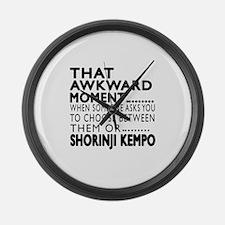Shorinji Kempo Awkward Moment Des Large Wall Clock