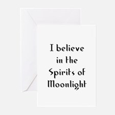 I believe in the Spirits of M Greeting Cards (Pk o