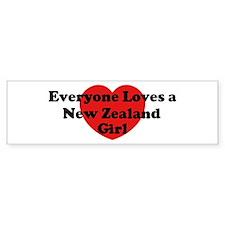 New Zealand girl Bumper Bumper Sticker