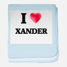 I love Xander baby blanket