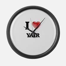 I love Yair Large Wall Clock