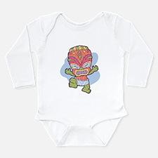 Funny Tiki Long Sleeve Infant Bodysuit