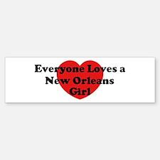 New Orleans girl Bumper Bumper Bumper Sticker