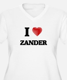 I love Zander Plus Size T-Shirt