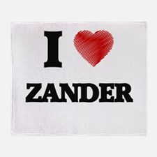I love Zander Throw Blanket