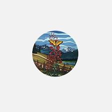 Canadian Landscape Butterfly Art Mini Button