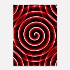 Red Spiral 5'x7'Area Rug