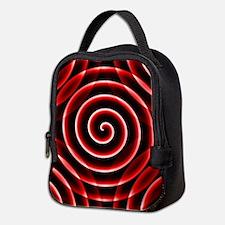 Red Spiral Neoprene Lunch Bag