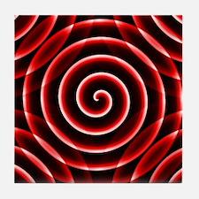 Red Spiral Tile Coaster