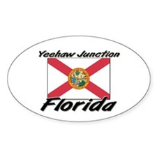Yeehaw Junction Florida Oval Decal