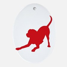 Lab 1C Red Oval Ornament