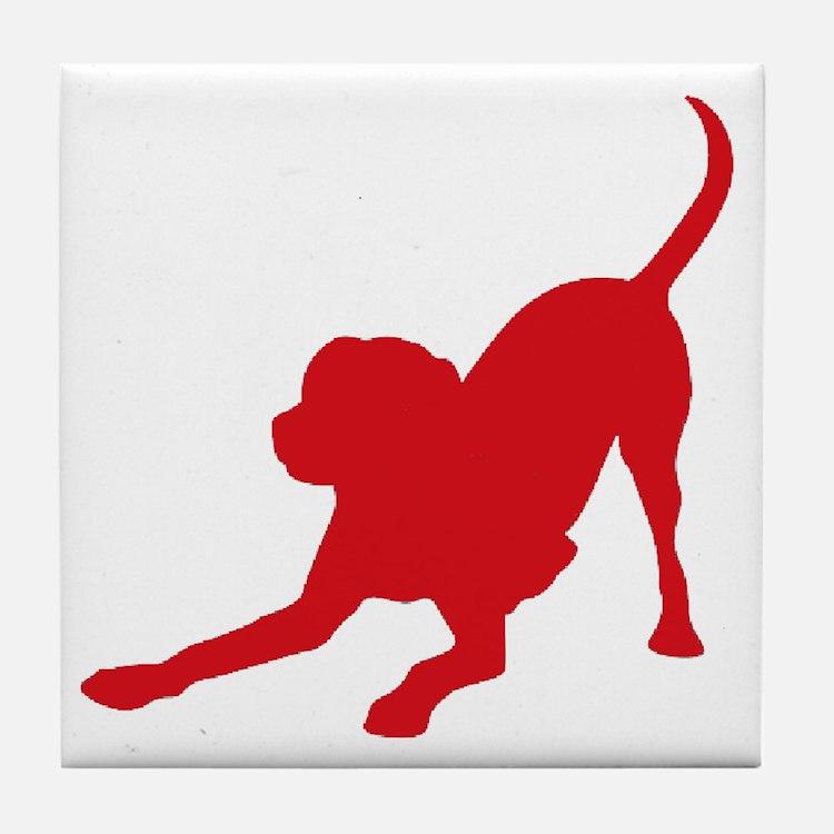 Lab 1C Red Tile Coaster