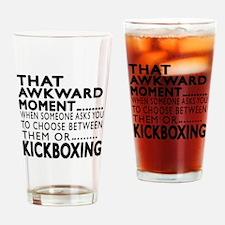 kickboxing Awkward Moment Designs Drinking Glass