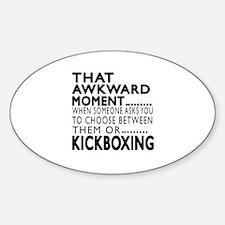 kickboxing Awkward Moment Designs Decal