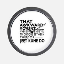 Jeet Kune Do Awkward Moment Designs Wall Clock
