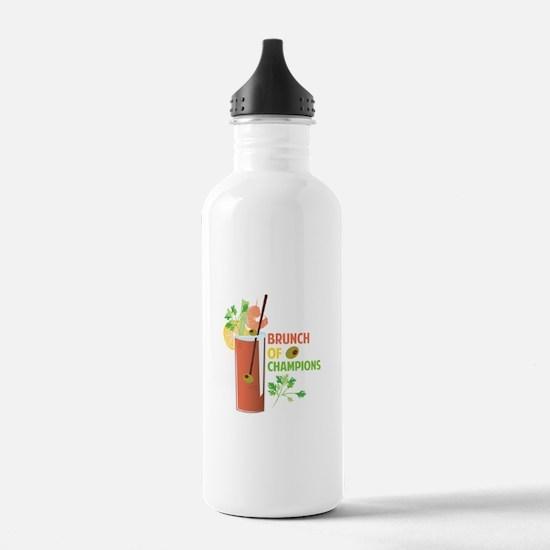 Brunch Of Champions Water Bottle