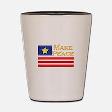 Make Peace Shot Glass