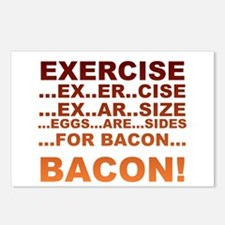 Exercise is bacon Postcards (Package of 8)