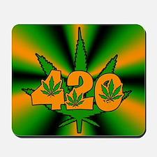 420 Pot Leaf Mousepad