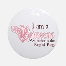 I am a Princess Round Ornament