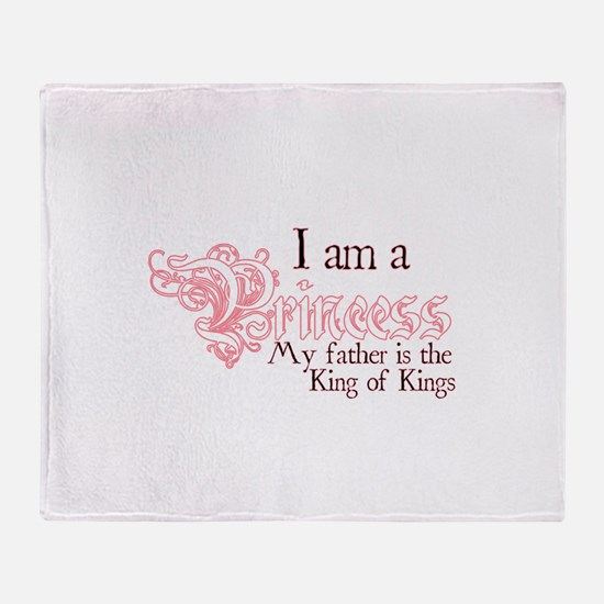 I am a Princess Throw Blanket