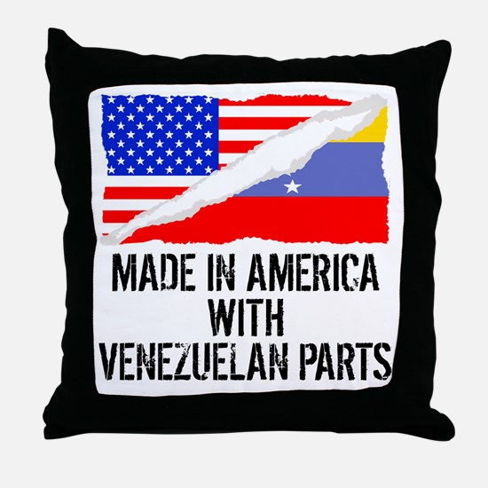 Made In America With Venezuelan Parts Throw Pillow