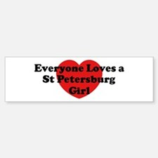St Petersburg girl Bumper Bumper Bumper Sticker