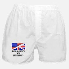 Made In America With British Parts Boxer Shorts