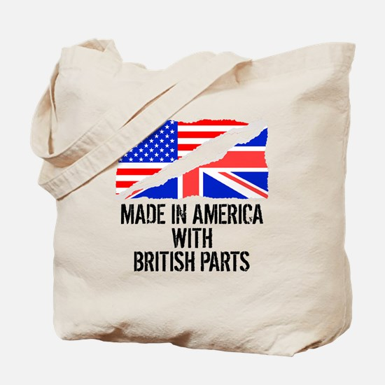 Made In America With British Parts Tote Bag