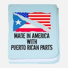 Made In America With Puerto Rican Parts baby blank