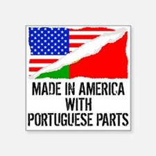 Made In America With Portuguese Parts Sticker