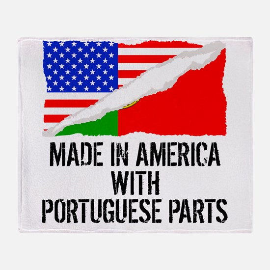 Made In America With Portuguese Parts Throw Blanke