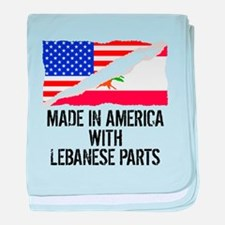 Made In America With Lebanese Parts baby blanket