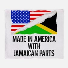 Made In America With Jamaican Parts Throw Blanket