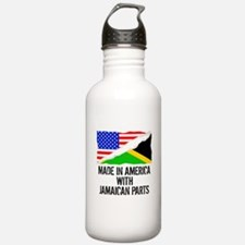 Made In America With Jamaican Parts Water Bottle