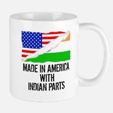 Made In America With Indian Parts Mugs